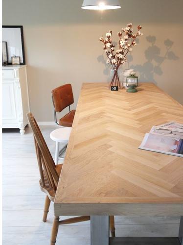 Tafelblad met visgraat ingelegd werkspot for Tafelblad maken