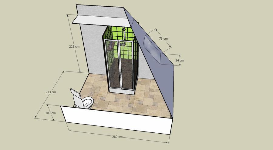 realiseren badkamer op zolder plus afwerking met isolatie en, Badkamer