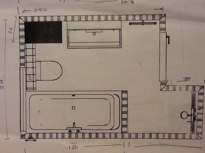 Betegelen van badkamer 3 x 2 1 en wc 1 5 x 1 vloer en wand werkspot - Betegelen van natuurstenen badkamer ...