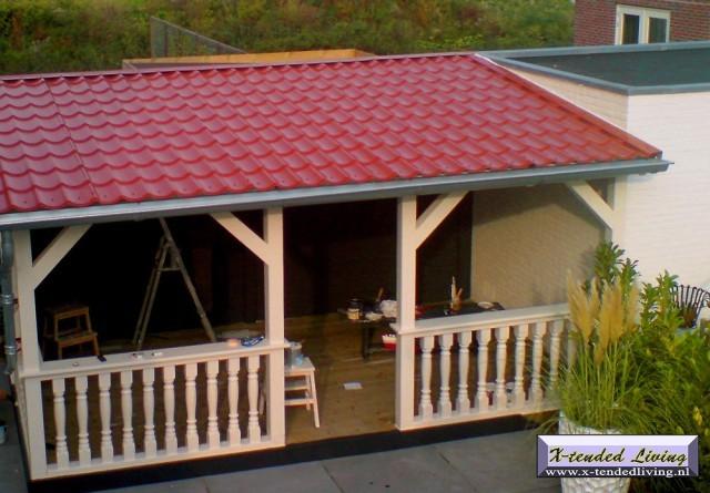 Veranda aanbouwen 6m x 4 3m werkspot - Veranda met dakraam ...