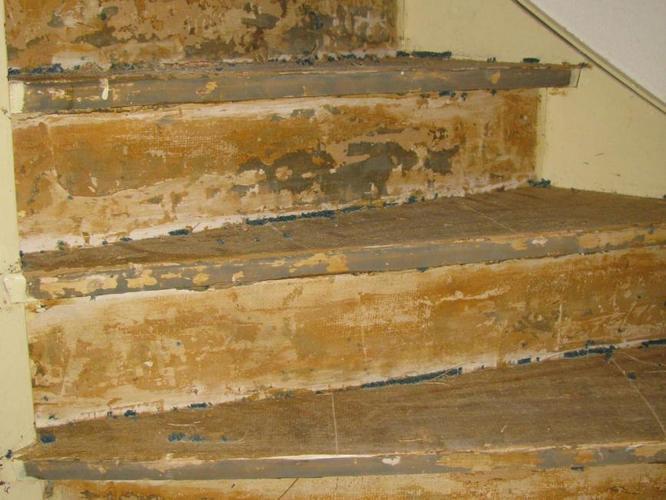Tapijt verwijderen trap
