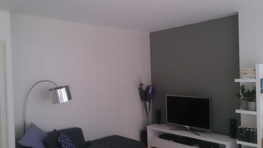 Schilderen woonkamer en keuken 1 muur behang verwijderen for Woonkamer verven