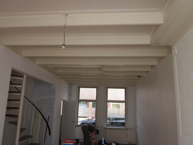 Plafond schilderen werkspot - Houten balkenplafond ...