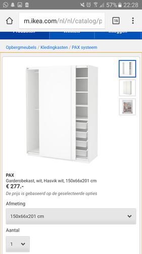 Pax Kast Montage Met Schuifdeuren 150x66x201 Werkspot