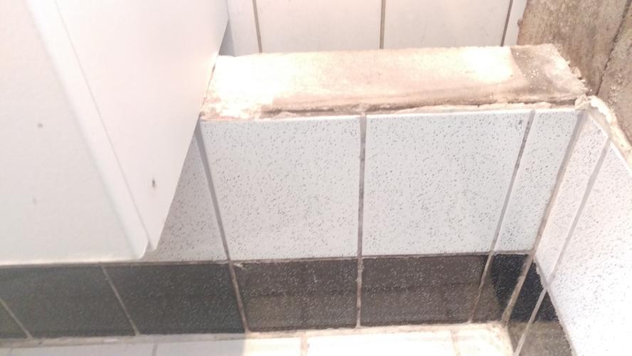 Plafond inzetten kleine badkamer/ wegzagen klein muurtje van gipsbl ...