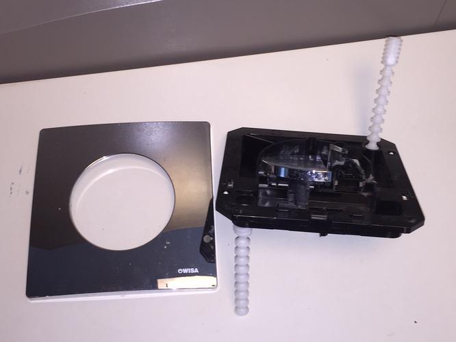 Vaak Bedieningspaneel Wisa toilet chroom vervangen + afstellen - Werkspot EM12