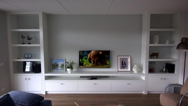 Tv Meubel Wand.Inbouw Wand Tv Meubel Werkspot