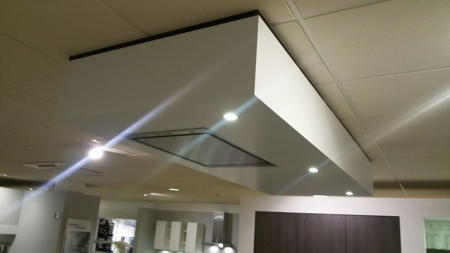 Afzuigkap In Plafond : Verlaagd plafond boven kookeiland maken voor afzuigkap bij