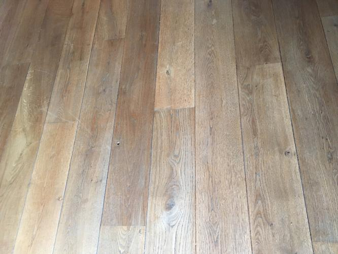 Hard houten gerookt eiken vloer schuren 35m2 werkspot