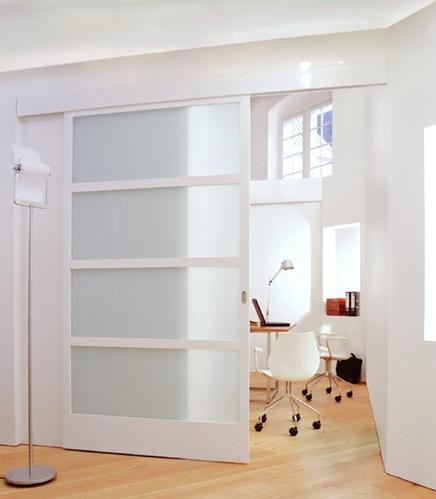 het maken van een houten schuifdeur als afscheiding tussen woon, Deco ideeën