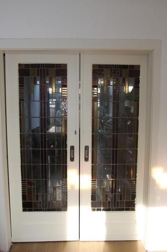 Binnen Schuifdeuren In Glas.Renovatie Glas In Lood In Schuifdeuren Binnen Werkspot