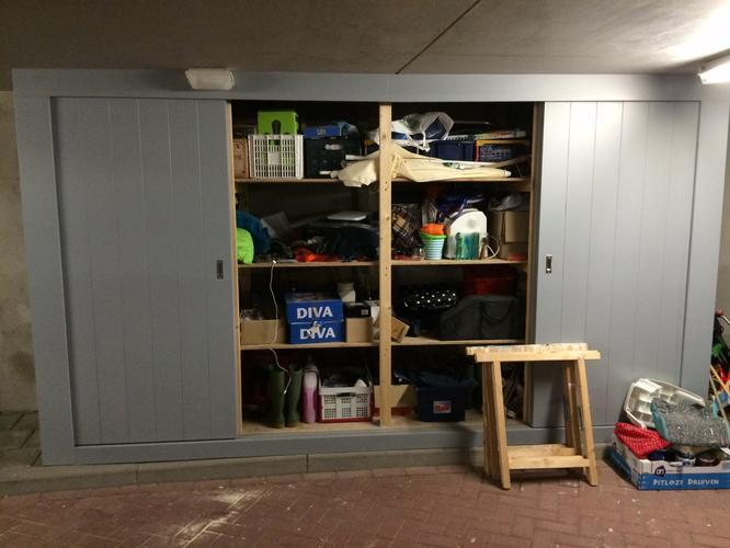 Fabulous Grote houten kast voor in de garage - Werkspot &OJ46