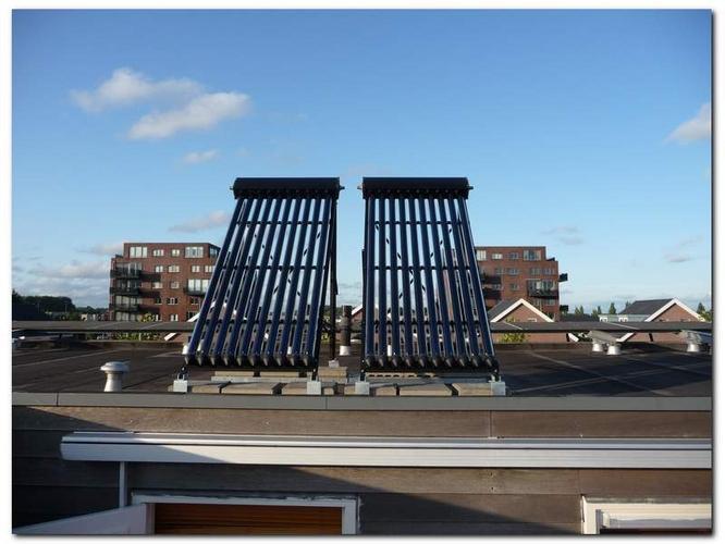 dakdoorvoer maken voor zonneboiler  plat dak