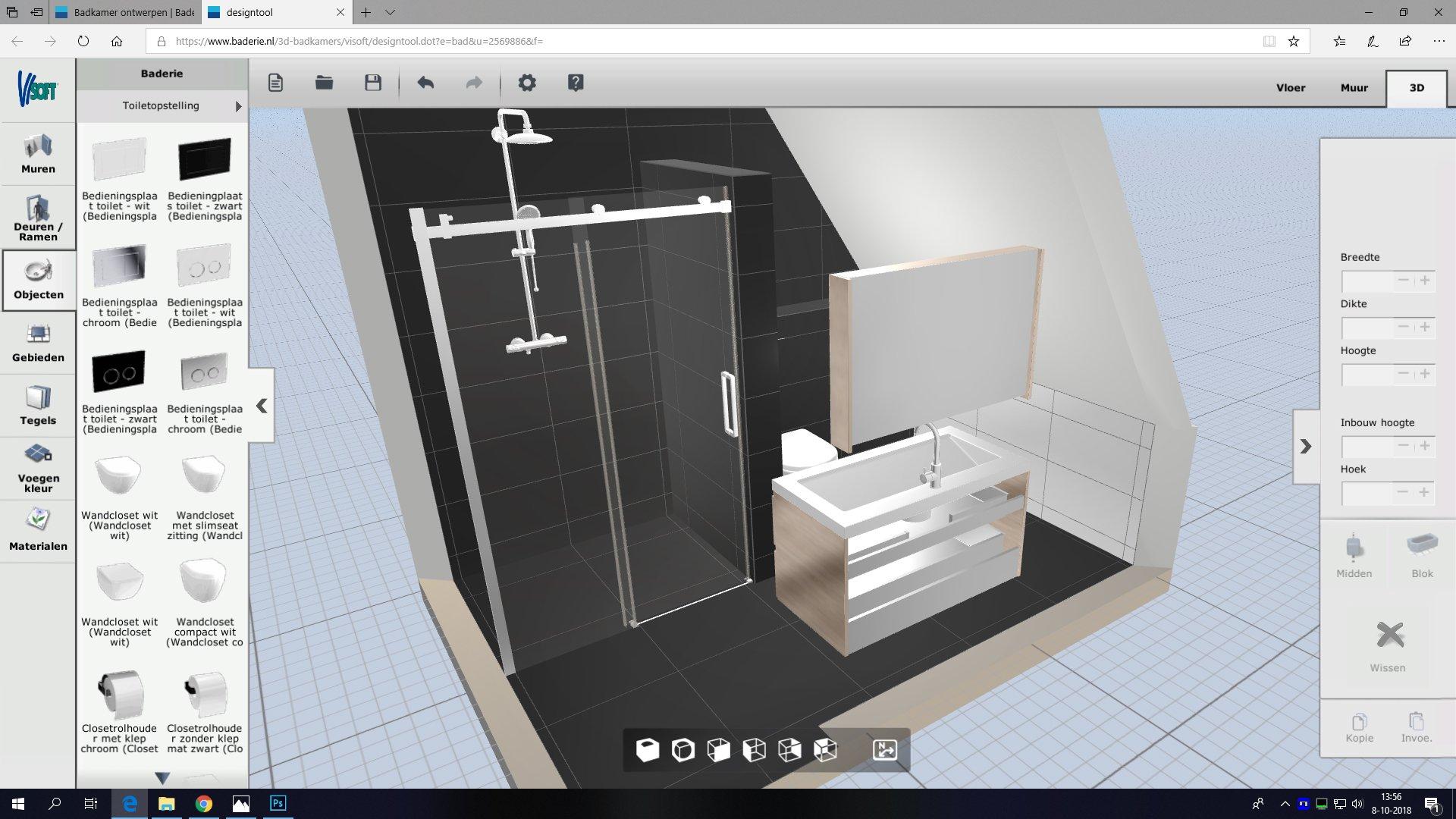 Breedte Toilet Badkamer : Badkamer m werkspot