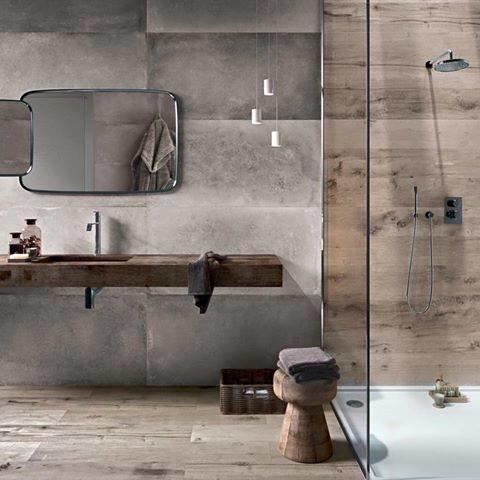 badkamer deels tegelen deels voorzien van beton cire - Werkspot