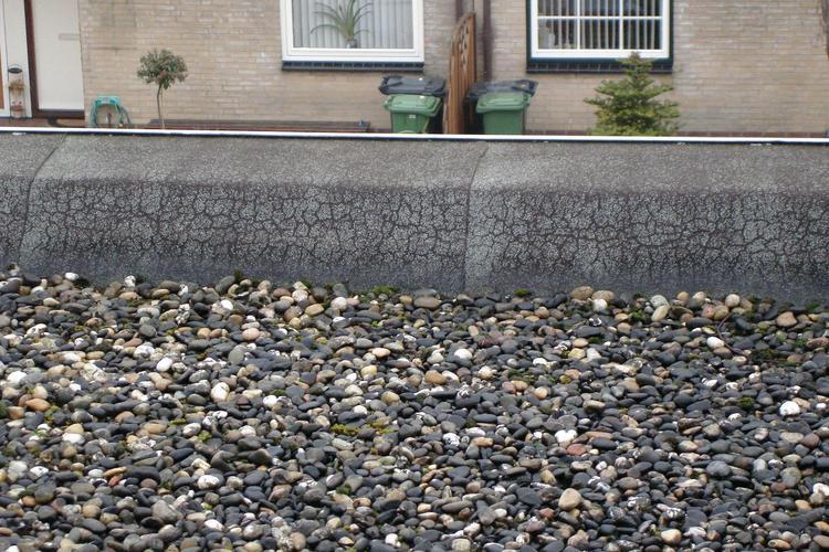 Grind plat dak reinigen