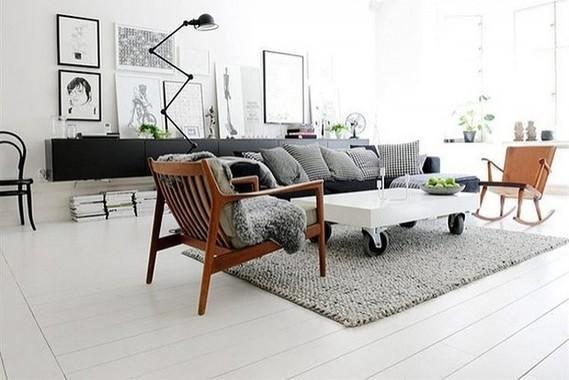 Houten vloer schuren en schilderen werkspot
