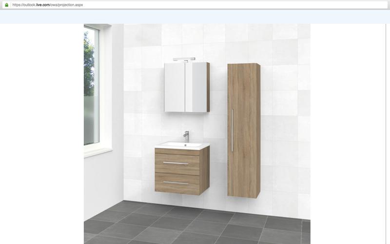 Plaatsen badkamer meubels set hoge kast spiegelkast wastafel incl
