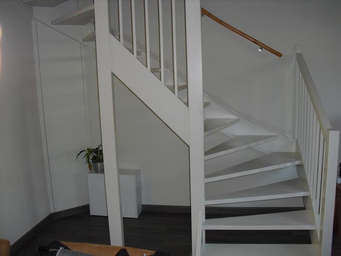 Open trap woonkamer dichtmaken werkspot