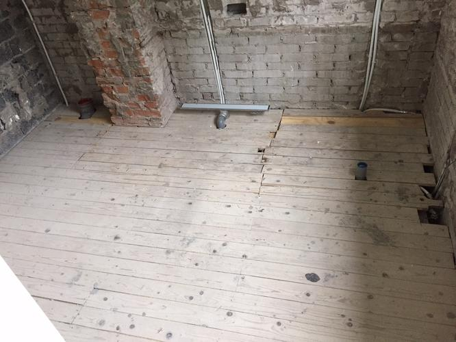 Badkamer Vloer Storten : Badkamer vloer lichtgewicht beton storten met afschot en