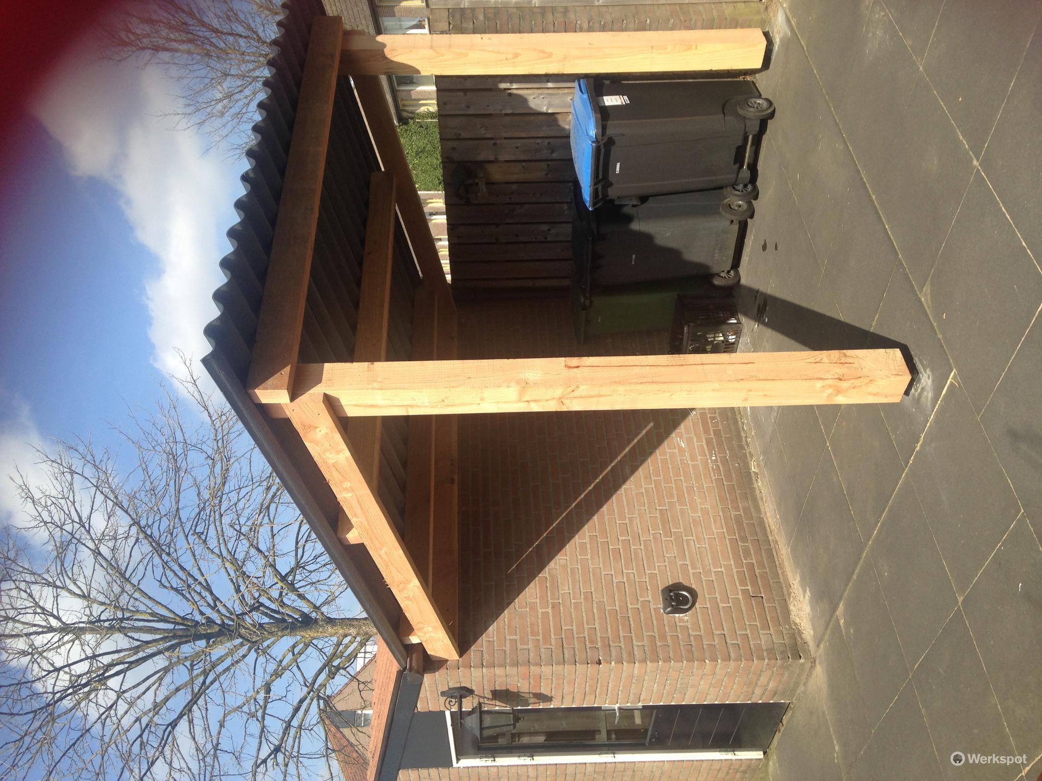 Overkapping met plat dak maken 2.83x2.50 werkspot