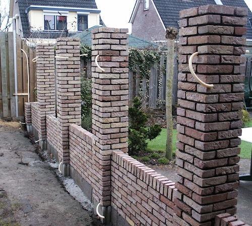 Muurtje metselen voor schutting werkspot - Veranda met stenen muur ...