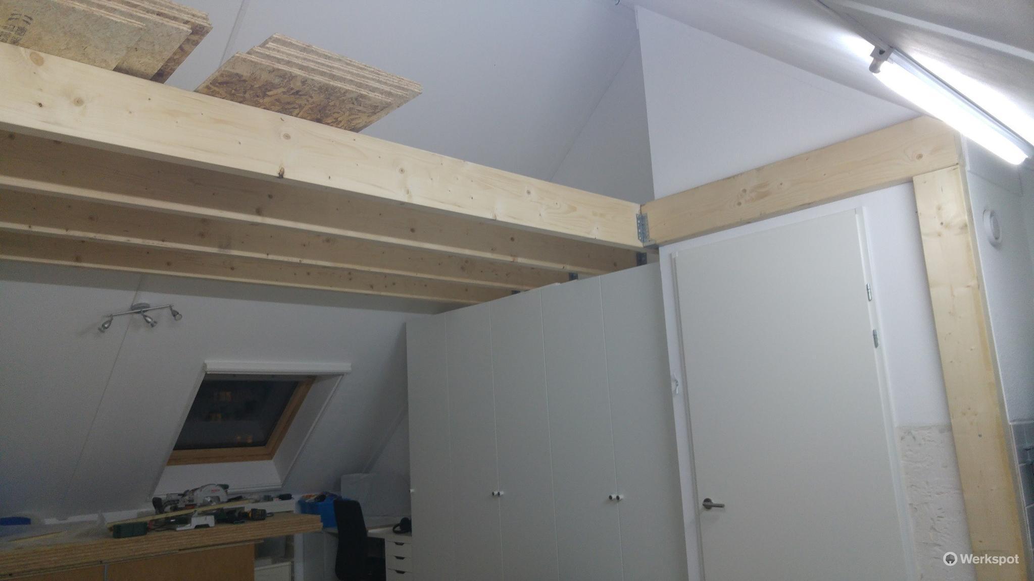 Vliering maken op zolder nieuwbouw werkspot - Mezzanine onder het dak ...