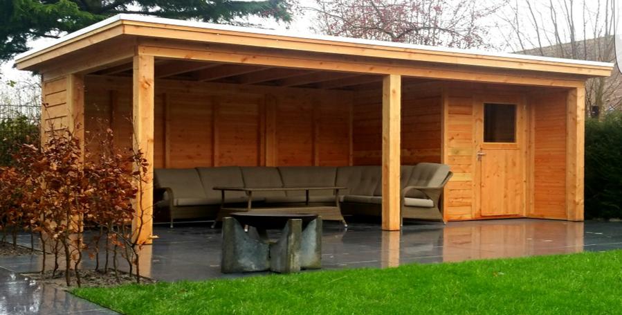 Overkapping Met Schuur : Het maken van een overkapping met schuur in de achtertuin werkspot