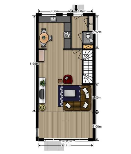 Woonkamer uitbouw 3 meter een verdieping woonlagen for Ladenblok 1 meter breed