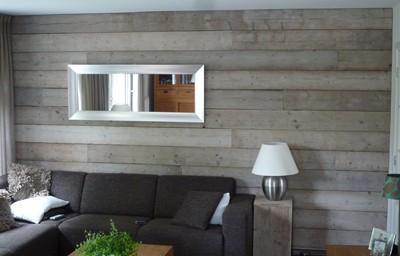 Wanden Van Steigerhout : Steigerhout slaapkamer steigerhout muur slaapkamer luxe