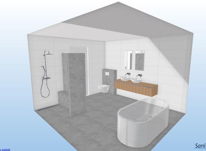 Technische tekening badkamer werkspot for Tekening badkamer maken