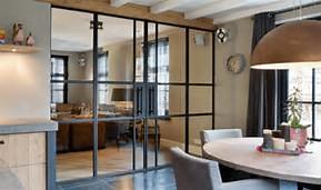 Stalen deuren / roomdivider keuken-woonkamer - Werkspot