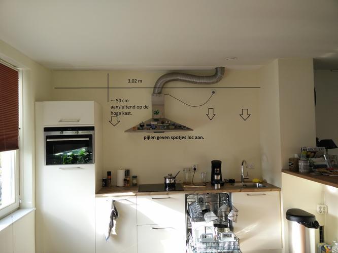 Van Boven Keukens : Lichtbak met spotjes boven keuken werkspot