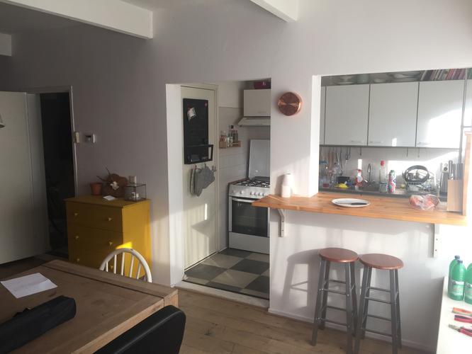 Muur tussen woonkamer en keuken deels verwijderen werkspot - Opening tussen keuken en eetkamer ...