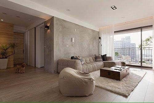Verven woonkamer met betonlook verf (1e week augustus) - Werkspot