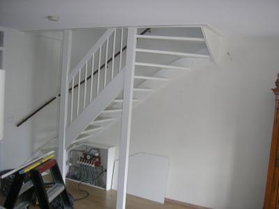 Trap dicht maken trap opnieuw betimmeren werkspot Trap in woonkamer