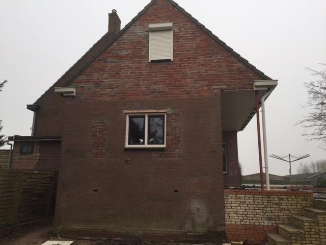 Buitengevels stucen en muur veranda werkspot