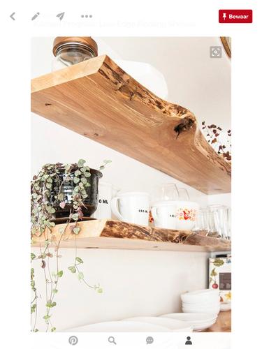 Robuuste wandplank interieur meubilair idee n - Exotisch onder wastafel houten meubilair ...