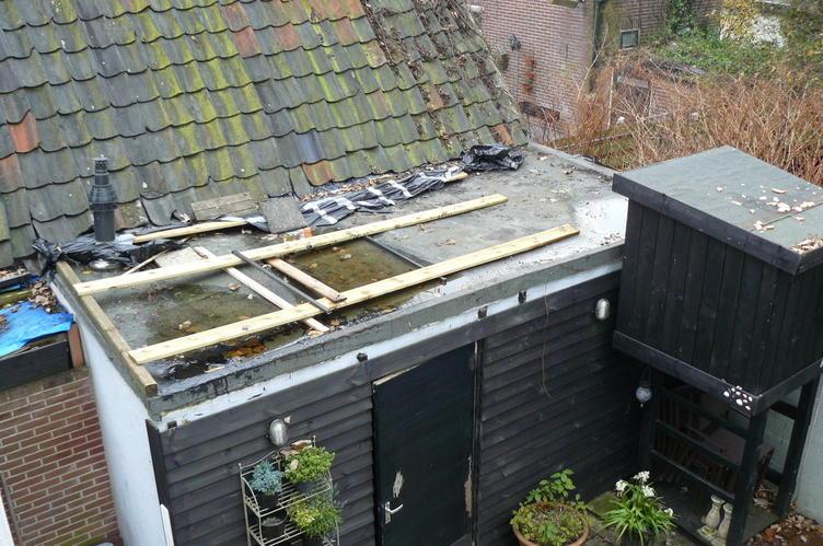 Dakbedekking Schuur Vervangen : Plat dak vervangen door schuin pannendak werkspot