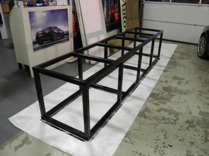Stalen frame bouwen voor hroot aquarium werkspot for Stalen onderstel tafel laten maken