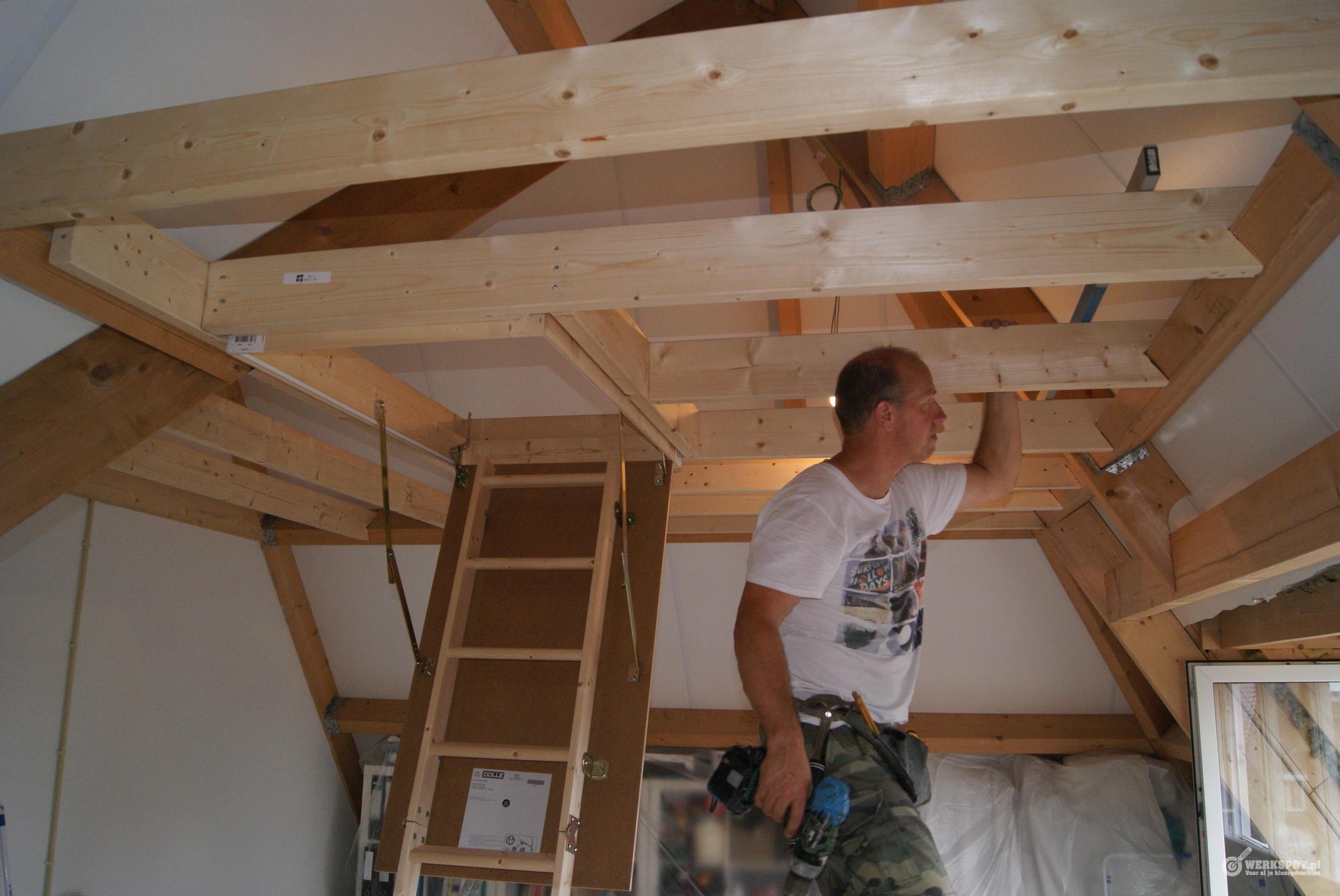 Constructie voor vliering op zolder werkspot for Trap naar vliering