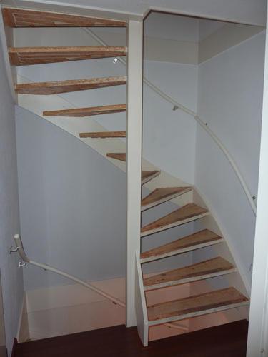Open en dichte trap bekleden werkspot for 2 kwart trap