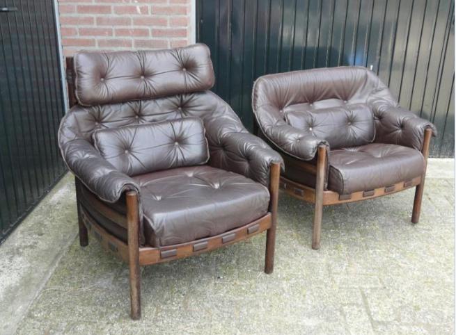 Leren Stoel Verven : Vintage lederen stoelen verven werkspot