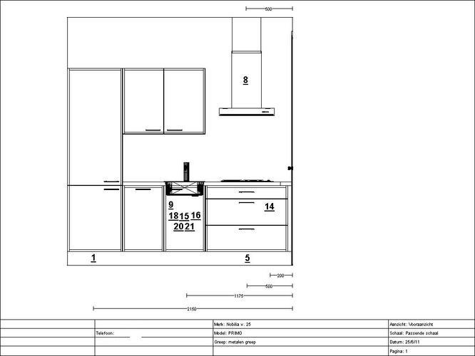 Keuken aansluitpunten conform tekening maken werkspot for 3d tekening maken keuken