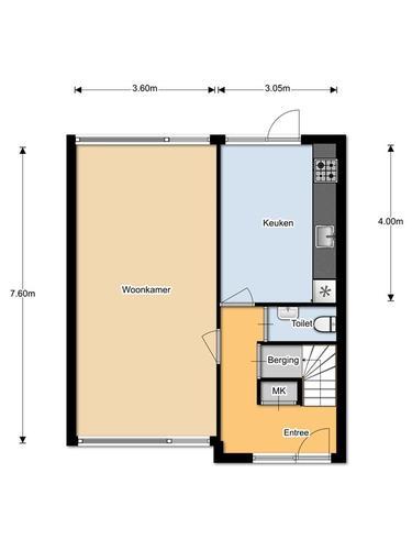 Woonhuis van 140m2 woonoppervlak. Afmetingen 7,6m x 6,65 3 verdiepi ...