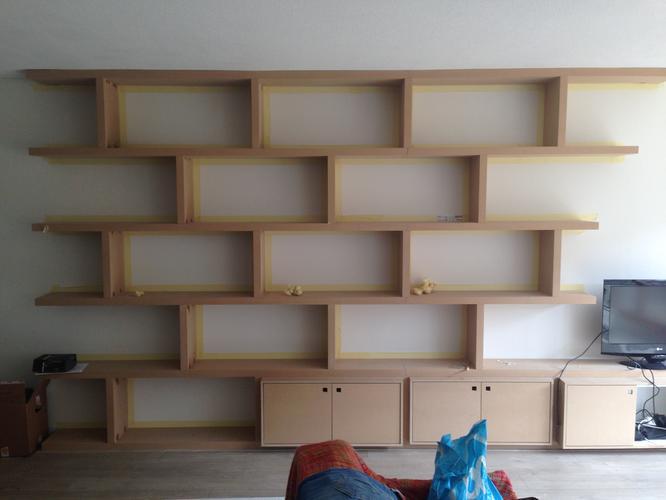 Schilderen mdf inbouwkast werkspot - Kleur trap schilderij ...
