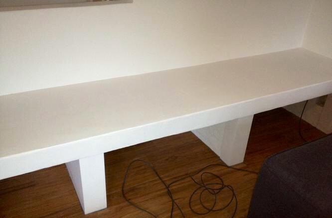 Houten tv meubel met vakken werkspot - Muur plank onder tv ...