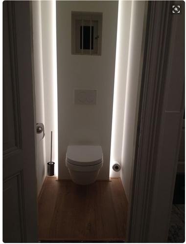 Verbouwing badkamer 2e verdieping en toilet begane for Indirecte verlichting toilet