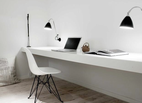Hoogglans wit bureau 3 56 x 0 60 werkspot for Bureau 1 metre