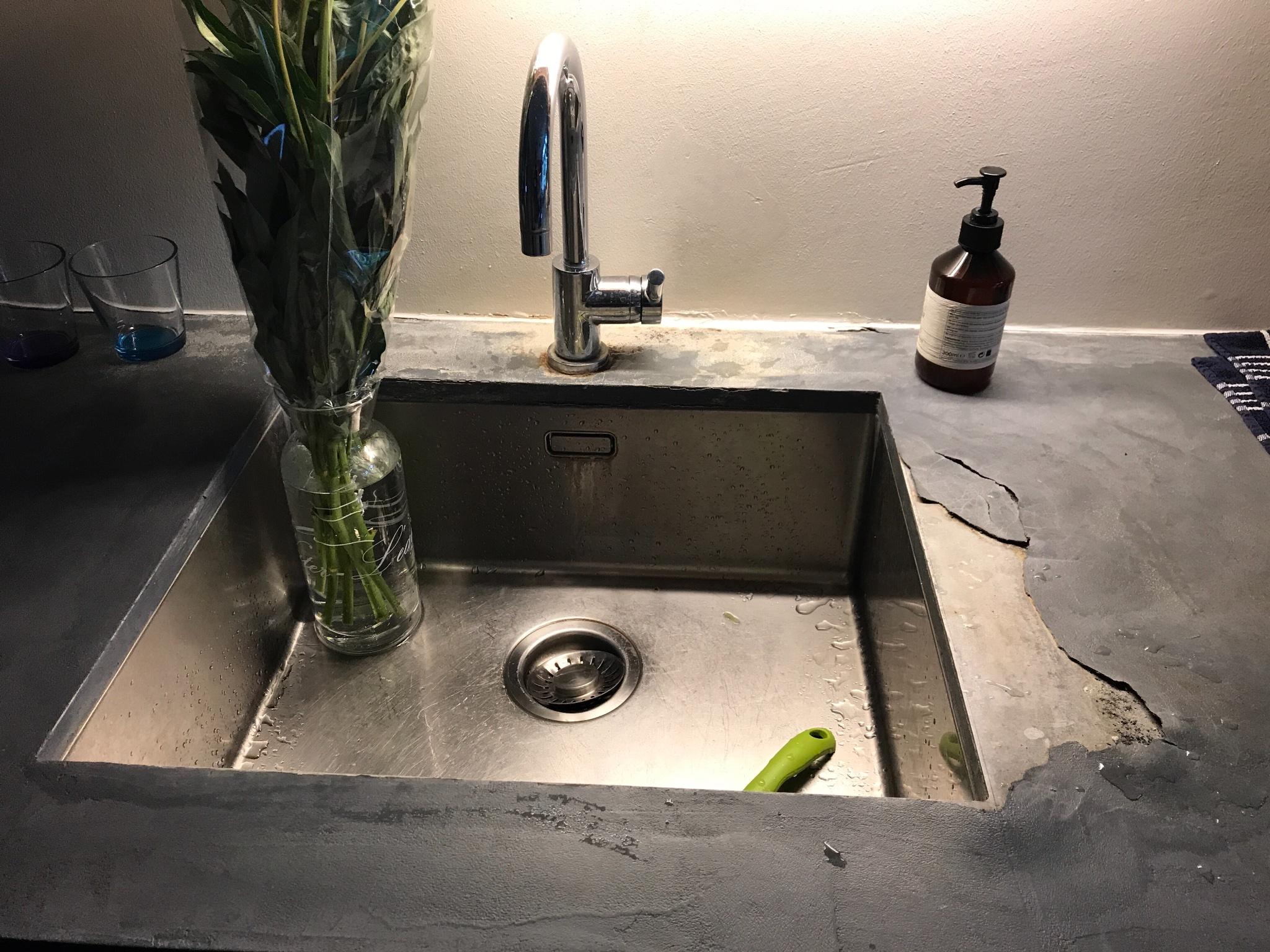 Keukenblad beton cire bijwerken werkspot